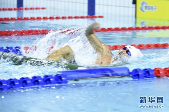 男子个人全能障碍游泳:中国选手张政追平世界纪录
