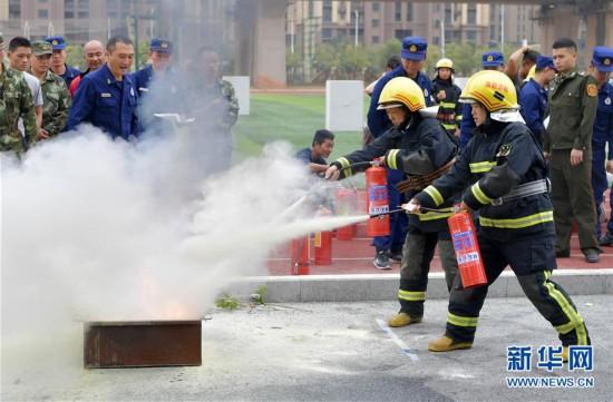 (社会)(2)培训人员大比武 消防技能人人知