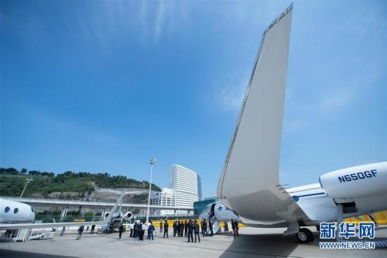 (经济)(2)第八届澳门公务航空展开幕