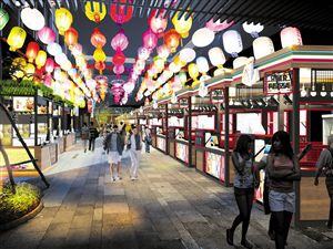 海口新埠岛首个大型特色夜市11月15日试业