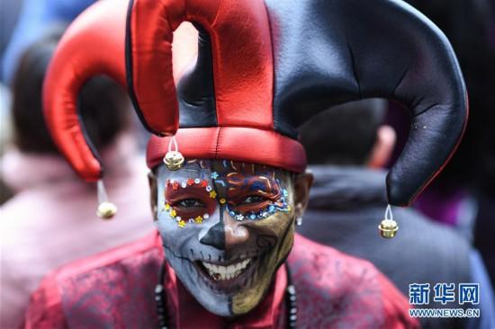 (国际)(2)墨西哥城举行亡灵节游行