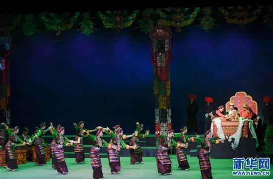(文化)(6)藏戏《六弦情缘》亮相中国戏剧节
