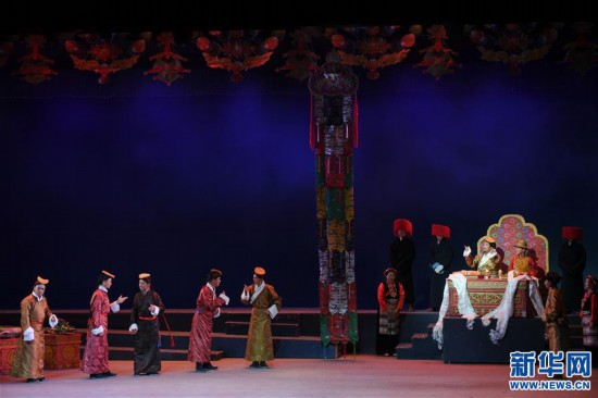 (文化)(2)藏戏《六弦情缘》亮相中国戏剧节