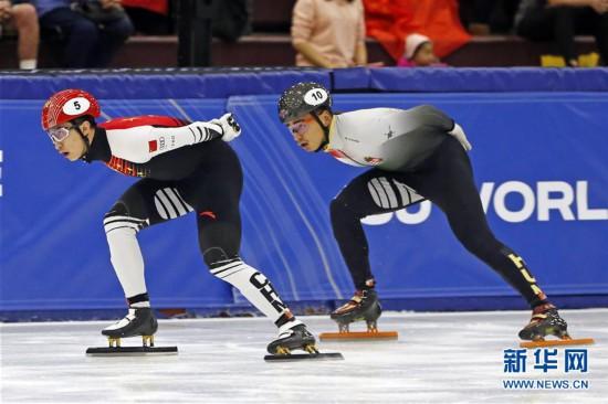 (体育)(1)短道速滑――世界杯盐湖城站:武大靖夺男子500米冠军