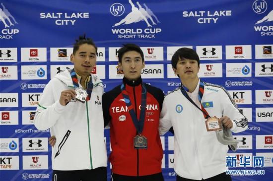 (体育)(4)短道速滑――世界杯盐湖城站:武大靖夺男子500米冠军