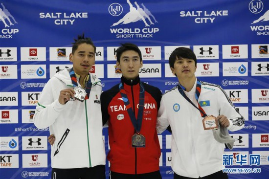 (體育)(4)短道速滑——世界杯鹽湖城站:武大靖奪男子500米冠軍