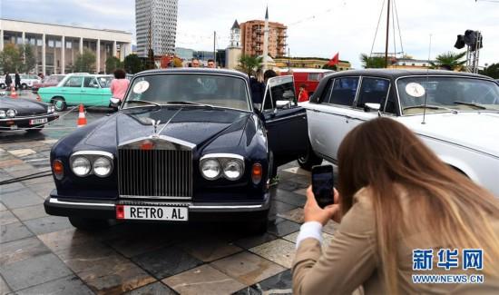 """(国际)(6)""""怀旧""""车展在阿尔巴尼亚首都地拉那落幕"""