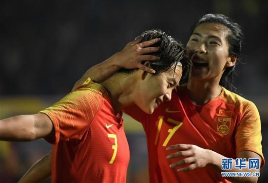 (体育)(9)足球――永川国际女足锦标赛:中国队胜新西兰队