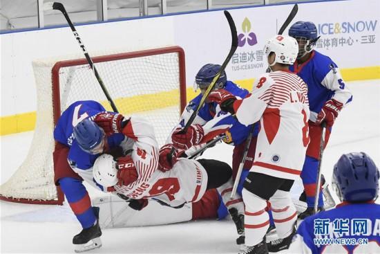 (体育)(2)冰球――北京2022冬奥会男子资格赛:中国香港胜科威特