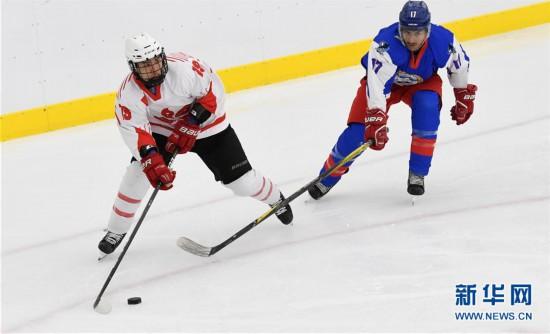 (体育)(4)冰球――北京2022冬奥会男子资格赛:中国香港胜科威特