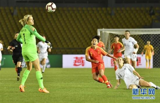 (体育)(17)足球――永川国际女足锦标赛:中国队胜新西兰队