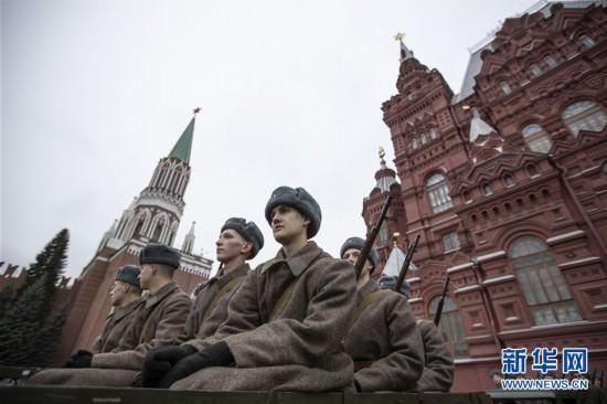 (国际)(1)莫斯科举行阅兵纪念1941年红场阅兵78周年
