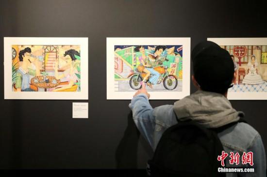 """""""旧时代的美好""""典美插画在台北松山文创园展出"""