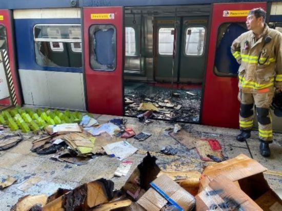 暴徒による度重なる鉄道破壊で運行停止の路線も 香港地区