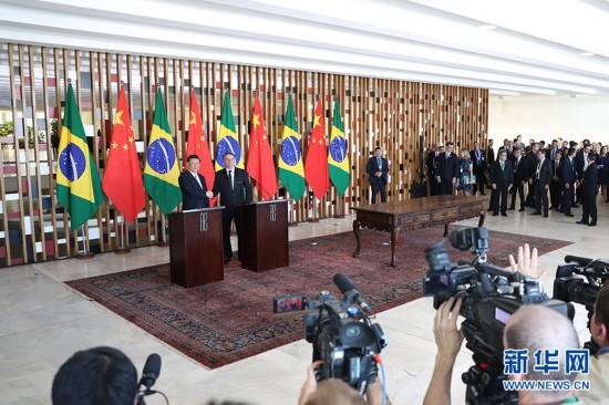 习近平同巴肯塔基风力修正西总统博索纳罗会谈