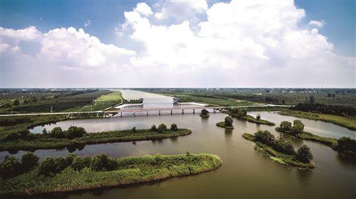 徐州大沙河丰县段成水利部首批示范河湖建设