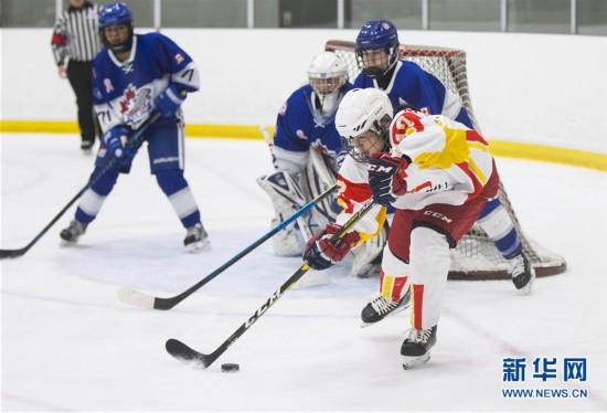(体育)(6)冰球――中国U18女子冰球队加拿大集训备战世锦赛