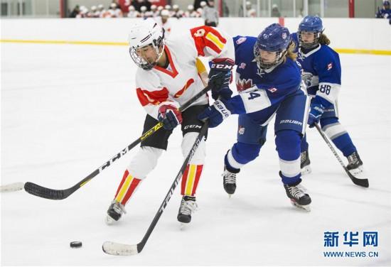 (体育)(4)冰球――中国U18女子冰球队加拿大集训备战世锦赛