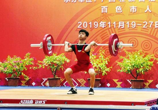 廣西區運會南寧運動員獲男子舉重