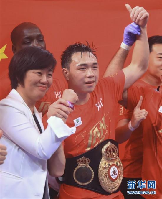 (体育)(1)拳击――徐灿第二次卫冕金腰带