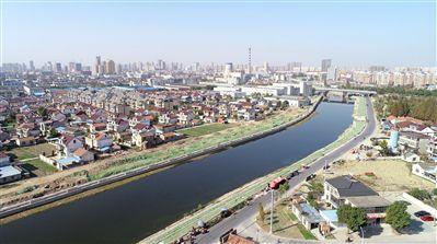 南通海安推进运河风光带建设 打造生态走廊