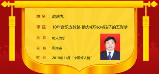 """2019年11月""""中国好人榜""""发布 河南6人榜上有名"""