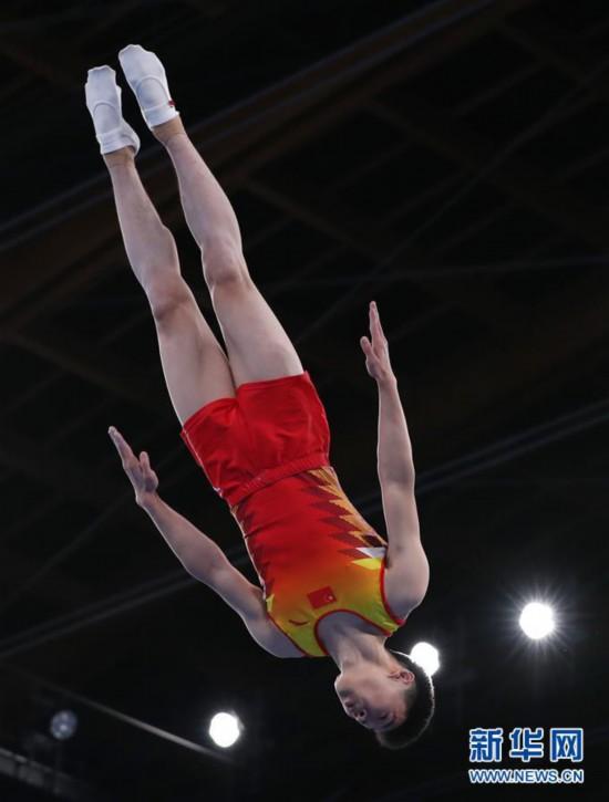 (体育)(6)蹦床――世锦赛:高磊获男子网上个人冠军