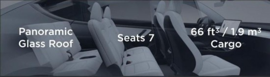Model Y第三排座椅曝光 空间表现堪忧