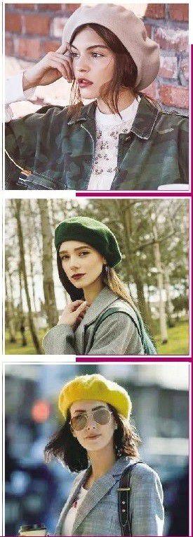 冬天一顶贝雷帽,复古时髦又可爱