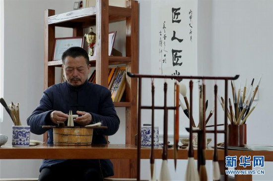 "(文化)(1)宣笔""守艺人"""