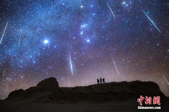 ふたご座流星群(資料画像、撮影・湯珺琳)。