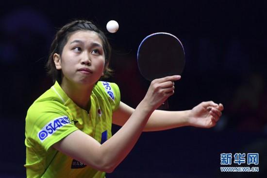 (體育)(2)乒乓球——世界巡回賽總決賽:丁寧止步首輪