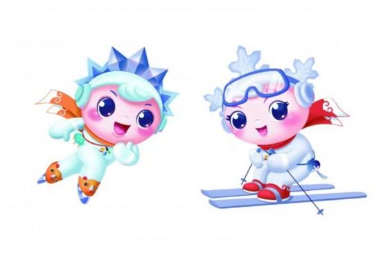 全新中��冰雪�\�游幕�卡通吉祥物亮相大�冰雪季