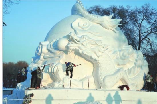 黑龙江省各地冰雪景区筹建忙