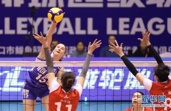 (体育)(3)排球——女排超级联赛:辽宁华君胜广东恒大