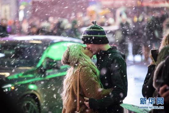 (国际)(2)纽约遭遇暴风雪