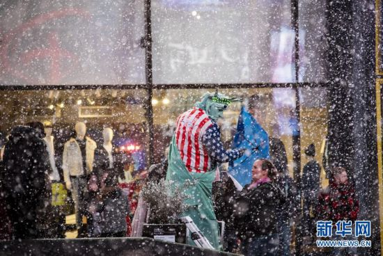 (国际)(1)纽约遭遇暴风雪