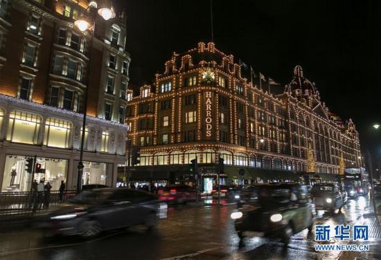 (国际)(4)伦敦绚丽彩灯点亮缤纷新年