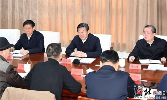 王东峰到河北省群众工作中心调研