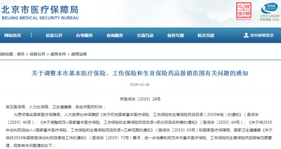 临床价值不高、副作用大多款药品被调出北京医保目录