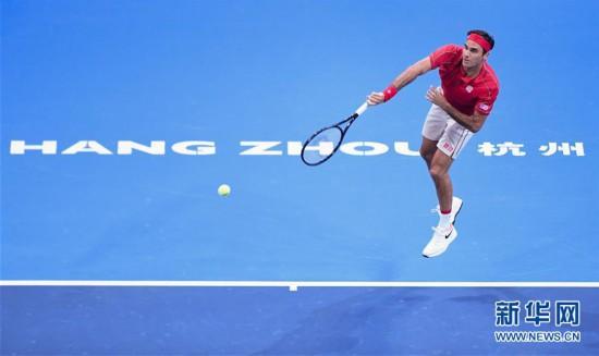 (体育)(5)网球――国际邀请赛:费德勒胜兹维列夫