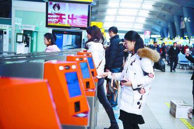 各大火车站电子客票  刷身份证进站不到三秒即可通关
