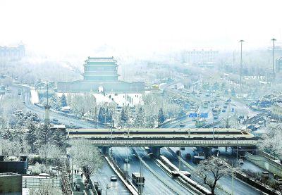 """京城新年首場雪下得很""""豪氣"""""""