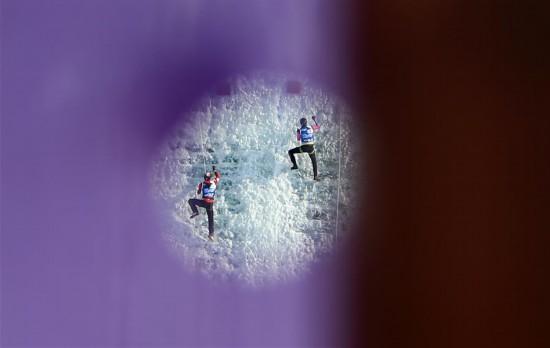 (体育)(1)攀冰――国际登联攀冰世界杯中国(长春)站闭幕