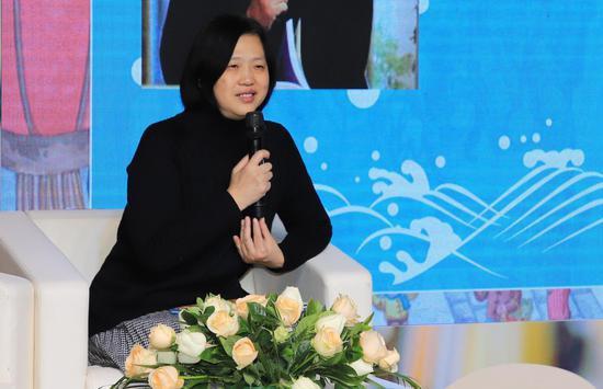 陈晖认为金波老师的作品充满童心、童趣