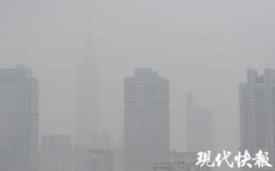 江苏发布霾黄色预警信号徐州等地