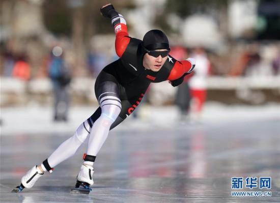 (冬青奥会)(2)速度滑冰——男子500米:中国选手薛智文获得铜牌