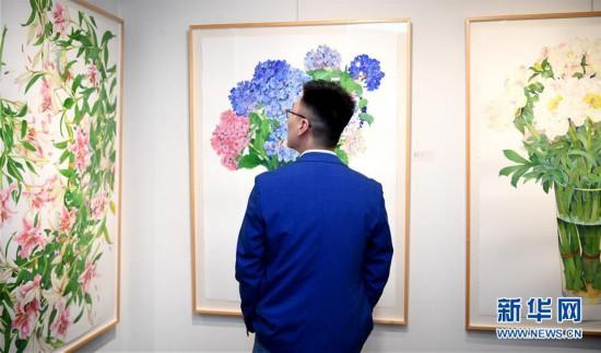 """(国际)(1)""""春之声""""中美艺术家绘画联展在旧金山湾区举行"""