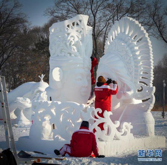 (社会)(4)哈尔滨国际雪雕比赛落幕