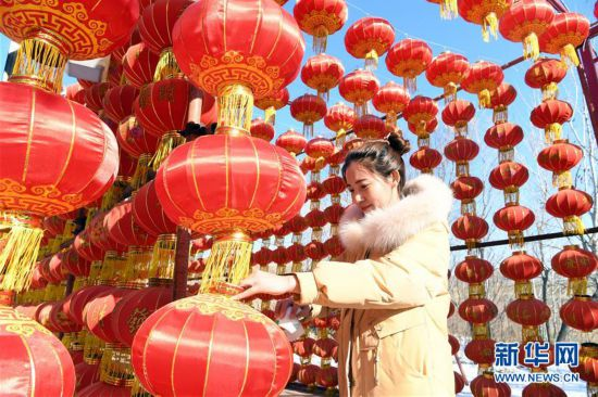 """(社会)(1)""""天津后花园""""喜庆迎春节"""